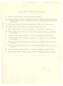 Negroes listed in 'American Men of Science'