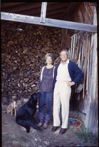 Nina Keller, her father (Roy Finestone), and two dogs, Wendell Farm