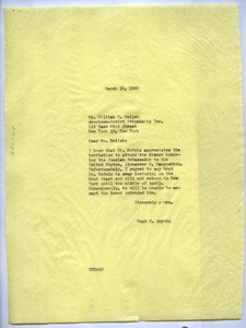 Letter from Hugh H. Smythe to National Council of American-Soviet Friendship