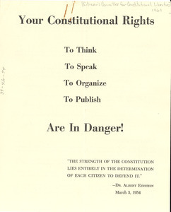 Your constitutional rights are in danger!