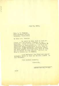 Letter from Jessie Fauset to Mrs. S. H. Greeley