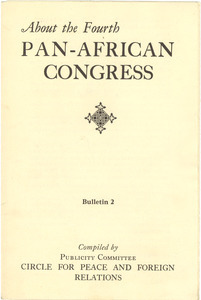 About Pan-African Congresses bulletin 2