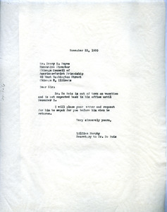 Letter from Lillian Murphy to National Council of American-Soviet Friendship