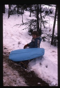 Boy with sled