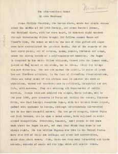 The Afro-American woman [fragment]