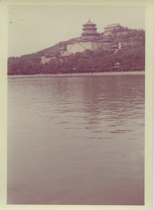 Tower of Buddhist incense on Kunming Lake