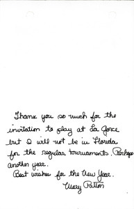 Thank you note from Mary Patton to Mark H. McCormack