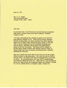Letter from Mark H. McCormack to C. C. Tippit