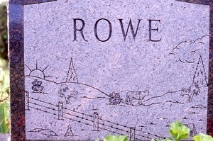 East Derry (New Hampshire) gravestone: Rowe