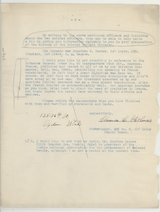 Letter from Clarence C. Holmes to unidentified correspondent [fragment]