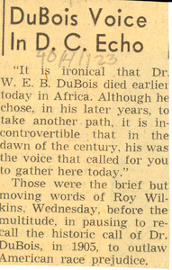 DuBois voice in D.C. echo