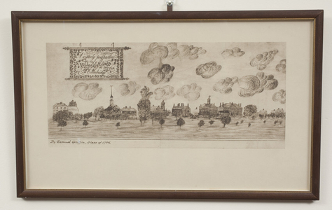 """A westerly perspective VIEW of part of the Town of Cambridge"""