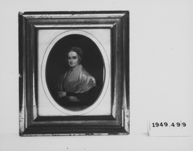 Framed Engraving of a Woman