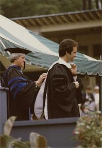 Awarding Garry Trudeau with an Honorary Degree.