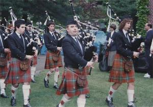 Bagpipe Performance 1988.
