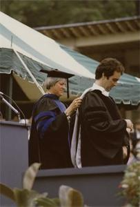Garry Trudeau Receiving Honarary Degree.