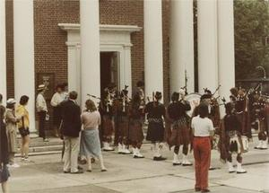 Bagpipers and Guests.