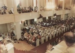 Audience in the Cole Memorial Chapel.