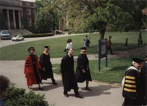 Dale Marshall in Commencement Procession 1993.