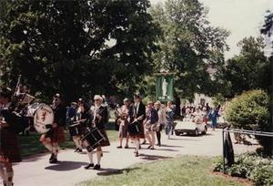 Bagpipers and Drummers at Reunion Parade.