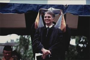 Carl Sagan Receives an Honorary Degree.