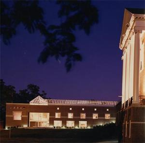 Balfour-Hood Center and the Chapel at Night 2.