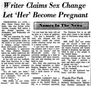 Writer Claims Sex Change Let 'Her' Become Pregnant