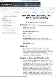 Tom and Tom Collection, 1972-1990
