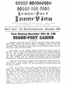 Cross-Port InnerView, Vol. 3 No. 12 (December, 1987)