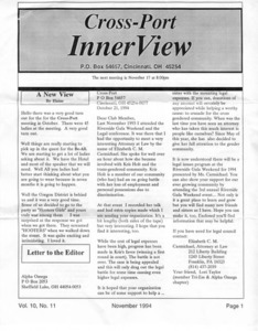 Cross-Port InnerView, Vol. 10 No. 11 (November, 1994)