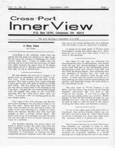 Cross-Port InnerView, Vol. 5 No. 9 (September, 1989)