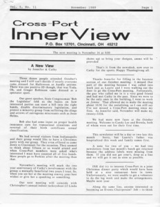 Cross-Port InnerView, Vol. 5 No. 11 (November, 1989)