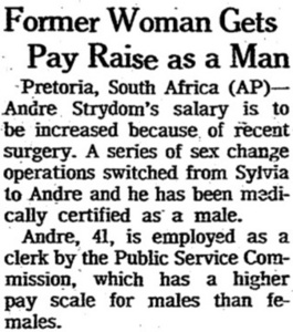 Former Woman Gets Pay Raise as a Man