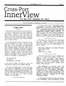 Cross-Port InnerView, Vol. 6 No. 11 (November, 1990)