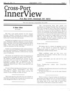 Cross-Port InnerView, Vol. 6 No. 9 (September, 1990)