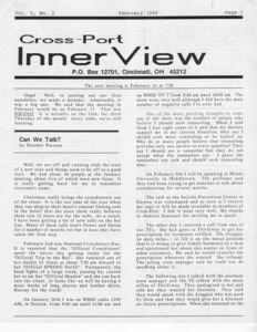 Cross-Port InnerView, Vol. 5 No. 2 (February, 1989)