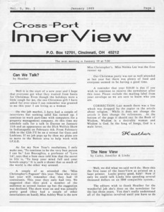 Cross-Port InnerView, Vol. 5 No. 1 (January, 1989)