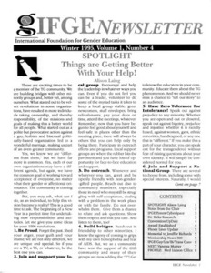 IFGE Newsletter Vol. 1 No. 4 (Winter 1995)