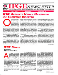 IFGE Newsletter Vol. 3 No. 3 (Fall 1997)
