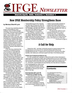 IFGE Newsletter Vol. 1 No. 1 (March-April 1995)