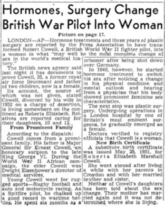 Hormones, Surgery Change British War Pilot Into Woman