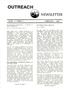 Outreach Newsletter Vol. 10 No. 3 (Summer/Fall 1986)