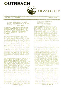 Outreach Newsletter Vol. 10 No. 1 (Winter 1986)