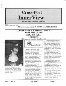 Cross-Port InnerView, Vol. 11 No. 7 (July, 1995)
