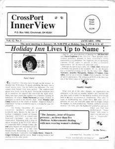 Cross-Port InnerView, Vol. 12 No. 1 (January, 1996)