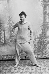 Marie Høeg Proudly Wears a Sweater and Baggy Pants