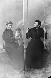 A Diptych Portrait of Marie Høeg on a Swing