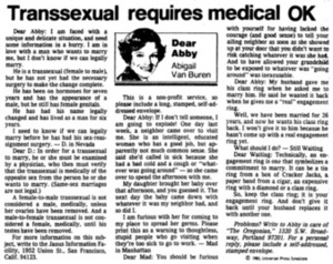 Transsexual Requires Medical OK