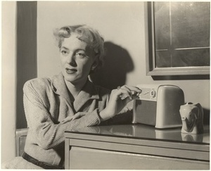 Christine Jorgensen Listening to the Radio
