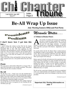 Chi Chapter Tribune Vol. 36 Iss. 07 (July, 1997)